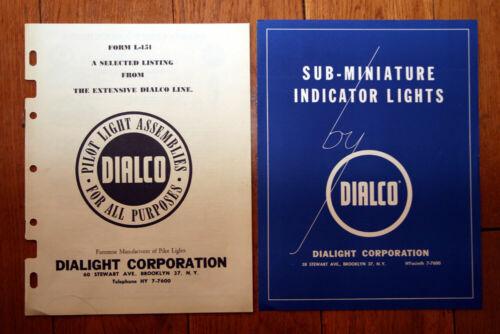 DIALCO Sub-Miniature Indicator Lights + Form L-151 DIALIGHT CORP. Pilot Lights