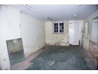 TO LET: GROUND FLOOR WORKSHOP / WAREHOUSE / LOCKUP (Size: 12ft x 23ft)