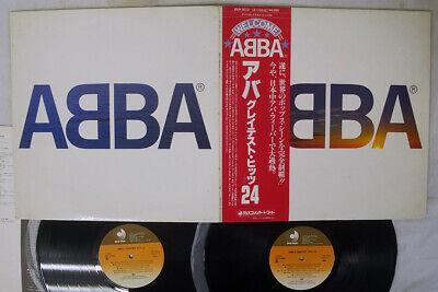 ABBA GREATEST HITS 24 DISCOMATE DSP-3012,3 Japan OBI VINYL 2LP