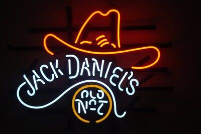 Jack Daniels Old No.7 Cowboy - ME306 - Beer Neon Light Sign **FREE SHIPPING**, used for sale  Shipping to United States