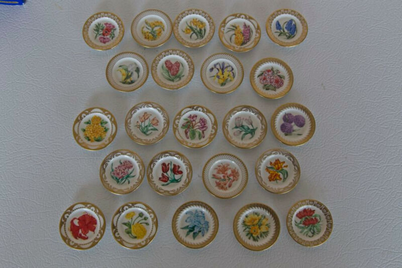 Miniature Royal Dutch Horticulture Society Fine Porcelain Collector Plates~1982