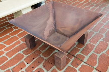 Corten Steel Square Outdoor Garden Wood Fire Pit Heating Firebox Fairy Meadow Wollongong Area Preview