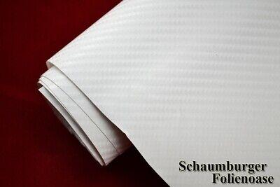 4D Carbon Folie Weiß Auto Folie 5 meter x 1,52 meter mit Luftkanäle Autofolie