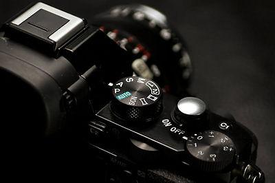 Lolumina 10mm Silver Soft Shutter Release Button for Fujifilm X-T1 Nikon Cannon