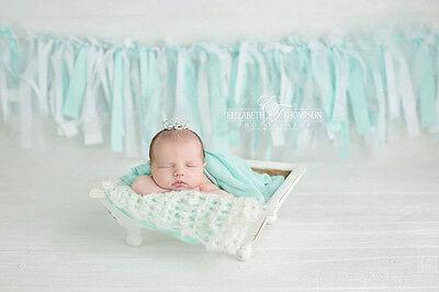 Mini Tiara Crown for Newborn- Baby Photo Prop Crystal and Rhinestone Mini 4016