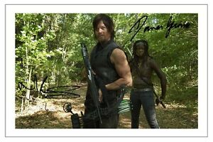 NORMAN-REEDUS-DANAI-GURIRA-THE-WALKING-DEAD-AUTOGRAPH-SIGNED-PHOTO-PRINT-4