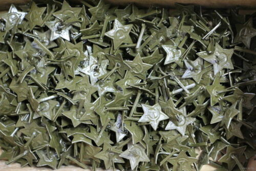 GREEN Star Cap Hat Badge Cockade 10 Pieces ! Soviet Russian Army Military USSR