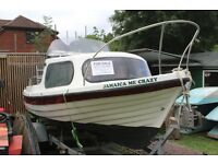 16 foot cabin cruiser with Honda outboard