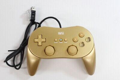 Nintendo Wii Classic Controller Pro Gold RVL-005(-02) Pad U Japan Import WC005