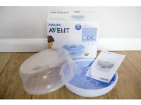 Philips Avent Microwave Steam Steriliser like new with box & instructions