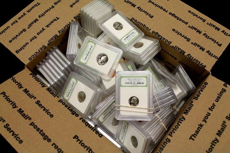 Huge Crazy Mixture 100+ Slabbed Coins BU Proof Circ. wholesale