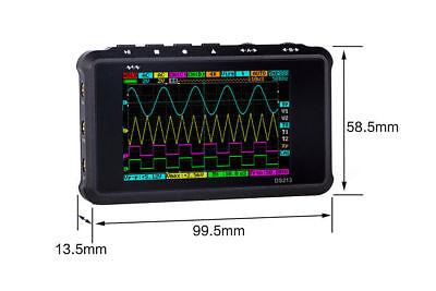 New Mini Digital Storage Color Oscilloscope Metal Handheld Scope Ds 213 Nano A
