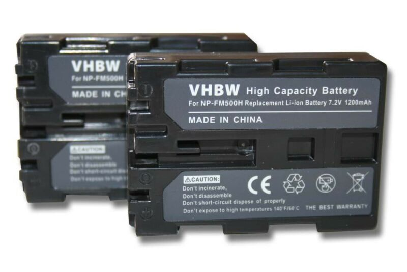 2x+Battery+1200mAh+for+Sony+Alpha+DSLR-A900+%2F+SLT-A57