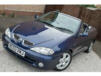 2003 RENAULT MEGANE CONVERTIBLE BLUE 52000 MILES JUST SERVICED MOT TIL MAY 2017 AIR CON ICE COLD