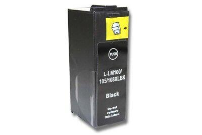 TINTEN PATRONE SCHWARZ BLACK FÜR LEXMARK 100 XL Platinum Pro 905 (Lexmark Patrone Xl 100)