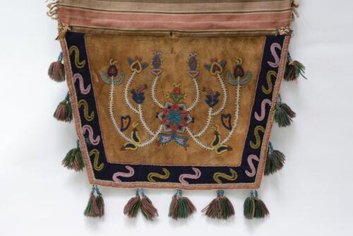 Antique Athabaskan Beaded Saddle - Sled Bag, c. 1880