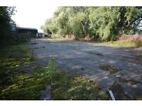 Yard to let, 14,000 sq ft, Glasgow, secure, fenced, 1 minute to junction 1A of M74