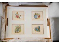 Beatrix Potter decoupage tea tray made by Lady Clare for Asprey of Bond Street, London