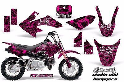 Dirt Bike Decal Graphic Kit MX Sticker Wrap For Honda CRF50 2014-2018 HISH PNK