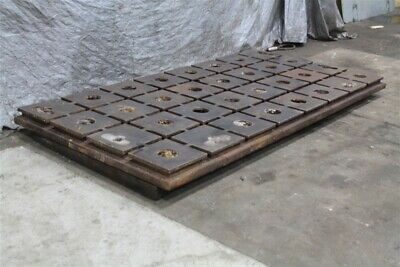 118 X 58 X 4 Cast Iron Cross T-slotted Plate Yoder 59444