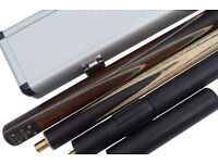 New 3/4 piece Handmade Ash Snooker/Pool Cue set/ Case Extension