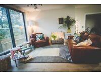Sofa & Chair - leather - John Lewis