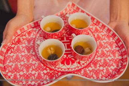 Chinese Wedding Tea Ceremony - Double Happiness Red Tea Set St Leonards Willoughby Area Preview