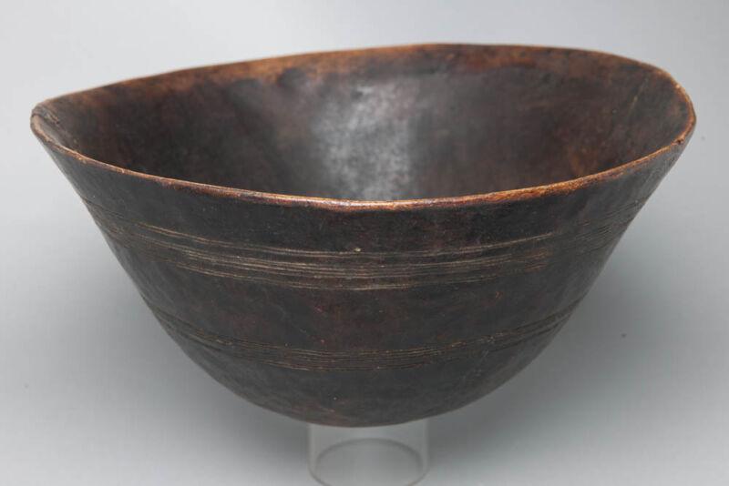Bakusu Storage Bowl, D.R. Congo, African Domestic Artefact