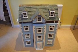 Dolls House - Blue & White in need of some TLC