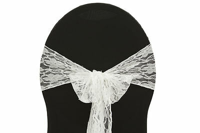 """200 Vintage Lace Chair Cover Sashes Bows 7"""" X 108"""" Weddin..."""