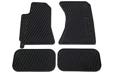 2003   2008 Subaru Forester All weather Rubber floor mats Black OEM 4pcs Genuine