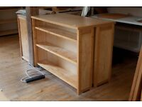 2 identical sets of double book/office shelving. Tops beautiful solid ash. Adjustable shelves