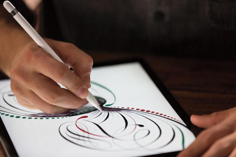 Mini mit Maxi-Features: Auch der Apple Pencil soll im iPad Pro mini zum Einsatz kommen. (© Apple)