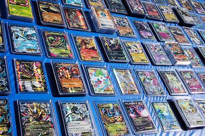 Pokemon TCG : 100 CARD LOT RARE, COM/UNC, HOLO & GUARANTEED EX, MEGA OR GX!!