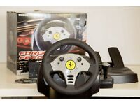 Thrustmaster Force Feedback GT Racing Wheel and Pedals