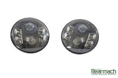 LAND ROVER DEFENDER ALL  SERIES ALL  CLASSIC MODELS 7  LED LAMPS KIT BLACK