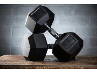 27.5kg hex dumbbells (pair)