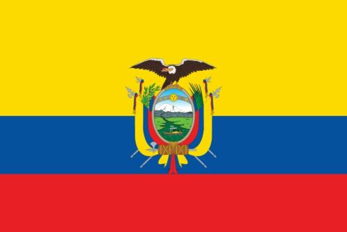 3 ft. x 5 ft. Polyester Ecuador Flag 2-Sided Flags Banner with Brass