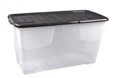 XXL Aufbewahrungsbox Box Kunststoffbox Lagerbox Regalbox Deckel CURVE 100 Liter