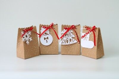Christmas Gift Boxes For Cookies (40 PCS Christmas Gift Box Favors - Great for chocolates, gifts, cookies,)