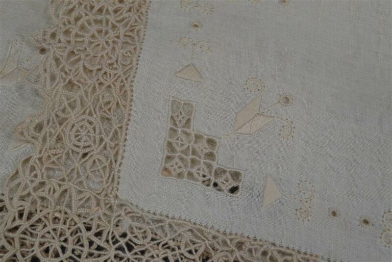 antique needle lace placemats linen 8 matching place mats off white very good