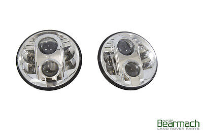 LAND ROVER DEFENDER ALL  SERIES ALL  CLASSIC MODELS 7  LED UPGRADE LAMPS KIT