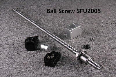 Cnc Sfu2005 Ball Screw Length 400-1600mm Ballnut Housing Coupler Bkbf15 Set
