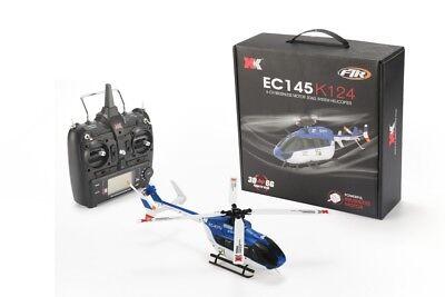 K124 EC145 6 Kanal 3D6G Flybarless Helikopter RTF