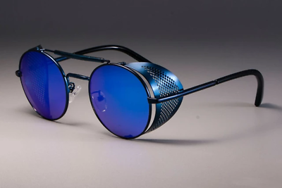 Retro Round Metal Sunglasses 2019 Steampunk Men Women Brand Designer Glasses Ocu