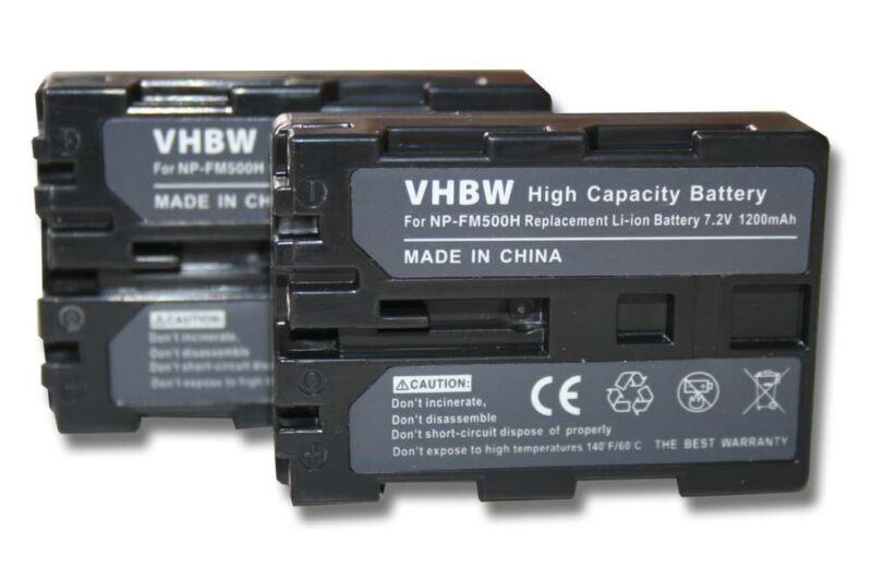 2x+Battery+1200mAh+for+Sony+Alpha+ILCA-77M2%2CILCA-77M2M+