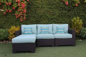 Patio Furniture SALE! FREE Shipping in Vancouver! Outdoor Sectional Sofa with Ottoman by Cieux!