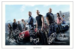 FAST-AND-FURIOUS-6-CAST-X-10-SIGNED-PHOTO-PRINT-AUTOGRAPH-POSTER-VIN-DIESEL