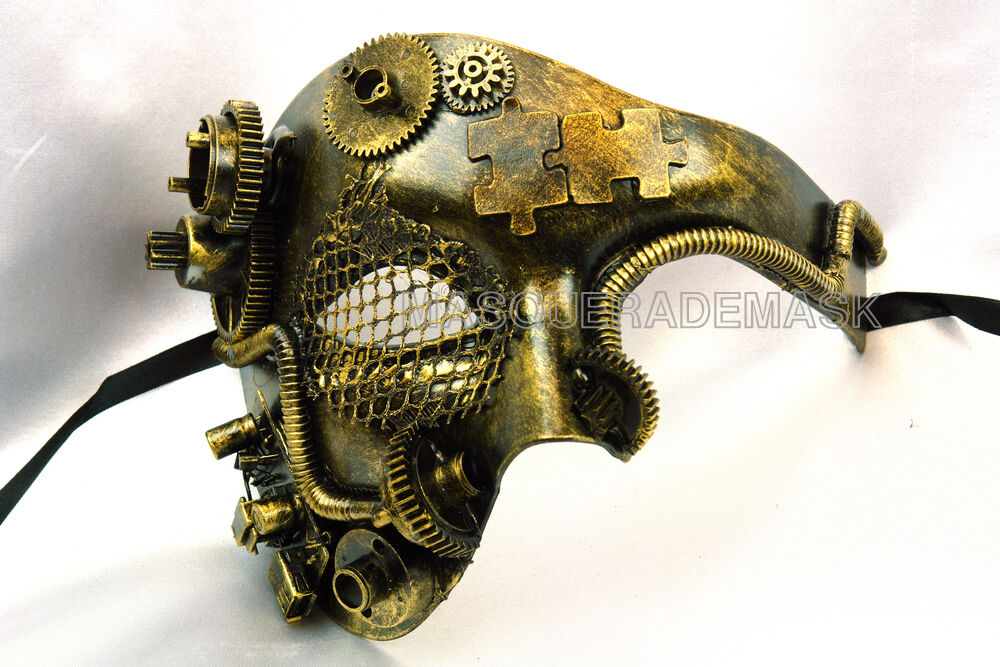 Steampunk Military Masquerade Ball Mask Burning Man Hallowee