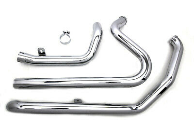 Chrome True Dual Crossover Exhaust Header Pipes Harley Dresser Touring 2010-2016
